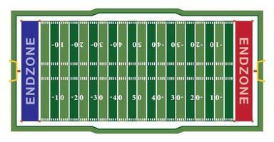 campo de futbol americano vector