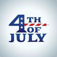 Icono del 4 de julio vector