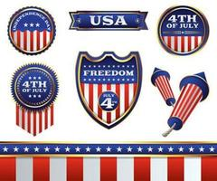 4th of July Badges and Elements
