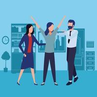 empresarios y concepto de coworking