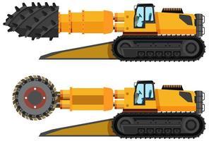 conjunto de roadheader de minería de carbón vector