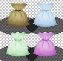 conjunto de diferentes bolsas en color aislado vector