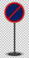 señal de tráfico roja sobre fondo transparente
