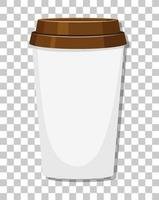 A paper coffee cup isolated on transparent background