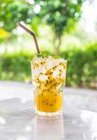Iced passion fruit drink