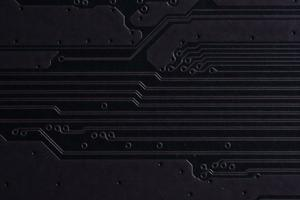 placa de circuito electrónico, primer plano