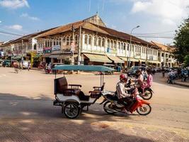 Camboya, 2010-Bust Street en el mercado de Siem Reap.