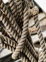 Worn sailing rope