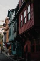 Estambul, Turquía, 2020 - coloridas tiendas al atardecer foto