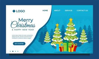 Merry Christmas and Happy New Year Landing Page