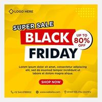 Yellow gradient Black Friday social media event banners