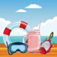 composición de verano, playa y vacaciones