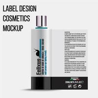 Plantilla de paquete de botella de cosméticos con diseño elegante y limpio