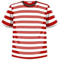Red and white stripes pattern t shirt