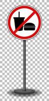 no comer ni beber señales vector
