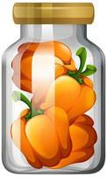 Capsicum in the glass jar