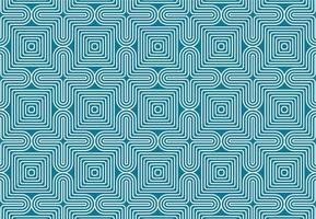 Geometric White and Blue Optical Illusion Seamless Pattern vector