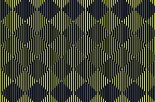 Yellow and Black Diamond Line Halftone Pattern vector
