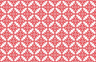 Christmas snowflake pixel pattern vector