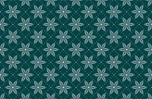 patrón sin costuras con flores blancas punteadas