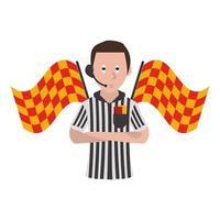 Cartoon soccer referee