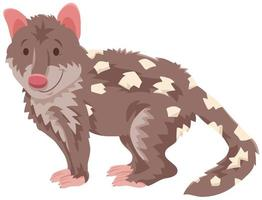 Quoll cartoon wild animal character