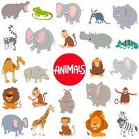 conjunto grande de personajes de animales de dibujos animados