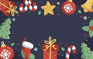 Colorful Christmas Element Background vector