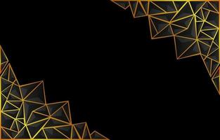 Dark Low Poly Background with Gold Accent vector