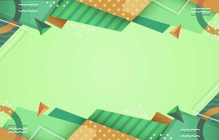 fondo geométrico verde abstracto vector