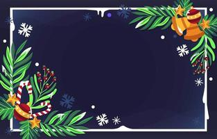 fondo de navidad decoracion plana vector
