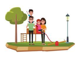 personajes de dibujos animados familiares juntos