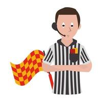 árbitro de fútbol de dibujos animados