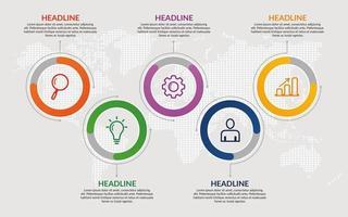 Plantilla de infografía de negocios de círculo colorido