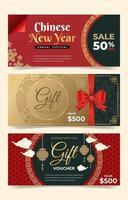 vales de año nuevo chino vector