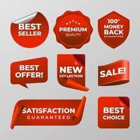 etiquetas comerciales y de marketing vector