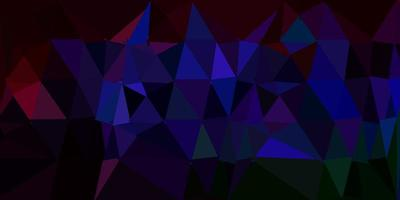 Dark multicolor abstract triangle backdrop.