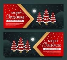 feliz navidad y próspero año nuevo plantilla de banner