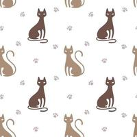Pattern with cat