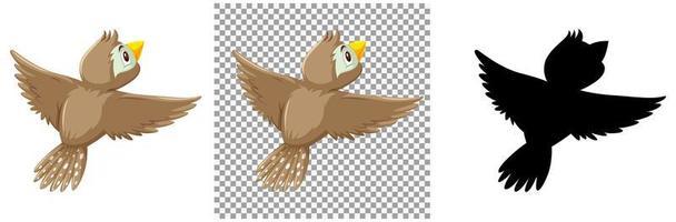 conjunto de personajes de aves