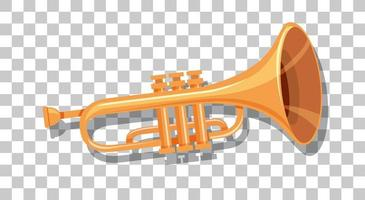 trompeta aislada sobre fondo transparente vector