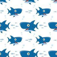 patrón con tiburón vector