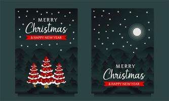Merry Christmas and Happy New Year Banner vector