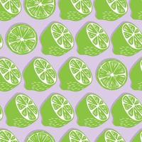 mitades de limón y rodajas con fondo de sombra. vector