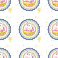 Pastel seamless unicorn background