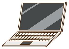 computadora portátil sobre fondo blanco vector