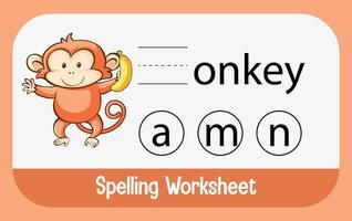 encontrar la letra que falta con el mono