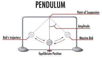 Pendulum's movement infographic for physics educational