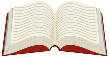 Book on white background vector