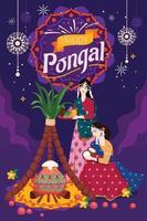 Two Girls Celebrating Pongal Festival